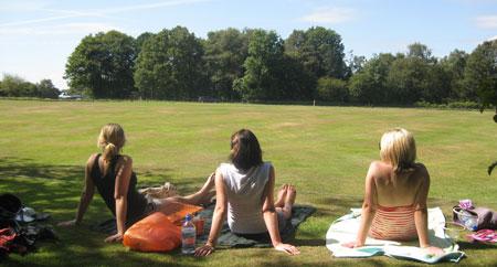 Nihill fan club at Headley 2009