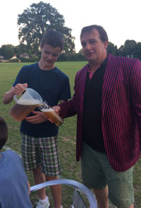 Grinders Junior with his first jug - Claygate 2015